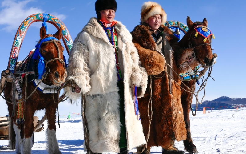 Fête des glaces en Mongolie : photo de jacques Ducoin